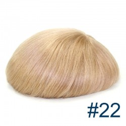 Men's Wig - Toupee, Fine Mono with Skin and French Lace front Base, Color #22 (Light Blonde), Made With Remy Indian Human Hair