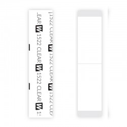 1522 Clear Double Sided Tape Straight Strips, For Hair System, By Walker Tape