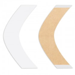Natural Hold Double Sided Tape Contours Strips, For Hair System, By Walker Tape