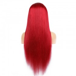 Full Lace Wig, Long Length, Color Red, Made With Remy Indian Human Hair