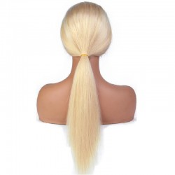 Full Lace Wig, Long Length, Color #22 (Light Pale Blonde), Made With Remy Indian Human Hair