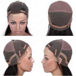 """Full Lace Wig, Short Length, 8"""", Color #4 (Dark Brown), Made With Remy Indian Human Hair"""