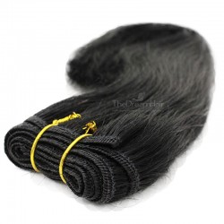 Weave, Straight, Color #1 (Jet Black), Made With Remy Indian Human Hair