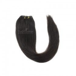 Weave, Straight, Color #1B (Off Black), Made With Remy Indian Human Hair