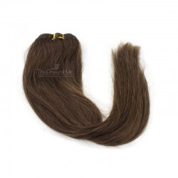 Weave, Straight, Color #2 (Darkest Brown), Made With Remy Indian Human Hair