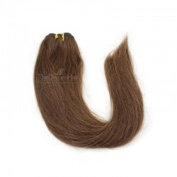 Weave, Straight, Color #4 (Dark Brown), Made With Remy Indian Human Hair