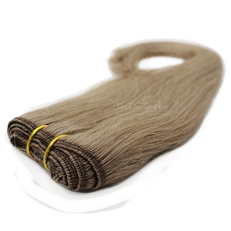 Weave, Straight, Color #8 (Chestnut Brown), Made With Remy Indian Human Hair