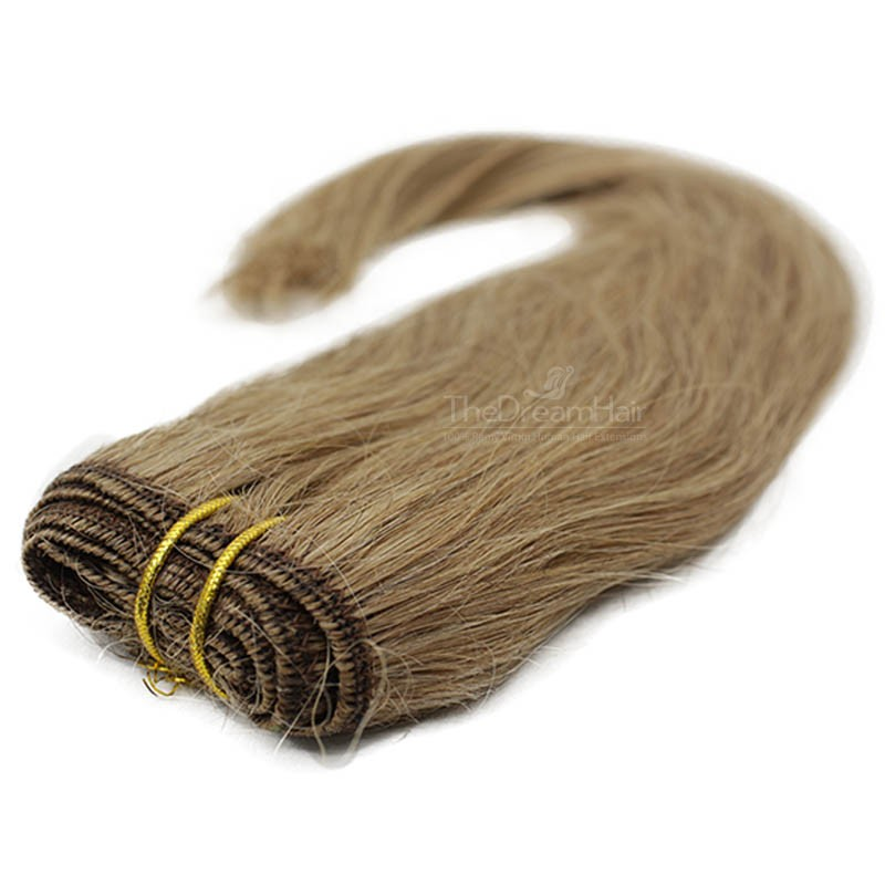 Weave, Straight, Color #10 (Golden Brown), Made With Remy Indian Human Hair