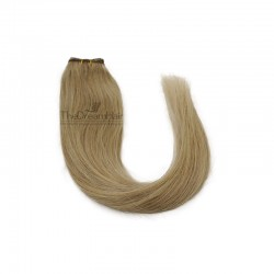 Weave, Straight, Color #14 (Dark Ash Blonde), Made With Remy Indian Human Hair