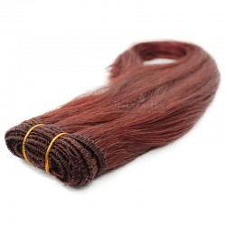 Weave, Straight, Color #35 (Red Rust), Made With Remy Indian Human Hair