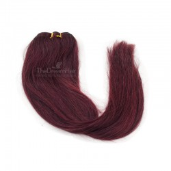 Weave, Straight, Color #99j (Burgundy), Made With Remy Indian Human Hair
