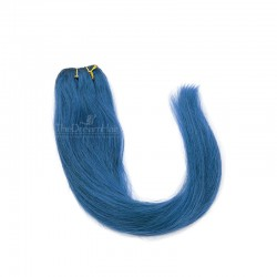Weave, Straight, Color Blue, Made With Remy Indian Human Hair