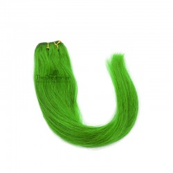 Weave, Straight, Color Green, Made With Remy Indian Human Hair