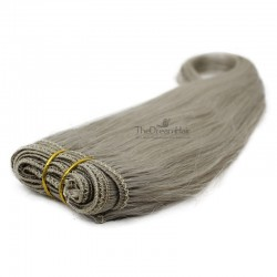 Weave, Straight, Color Grey, Made With Remy Indian Human Hair