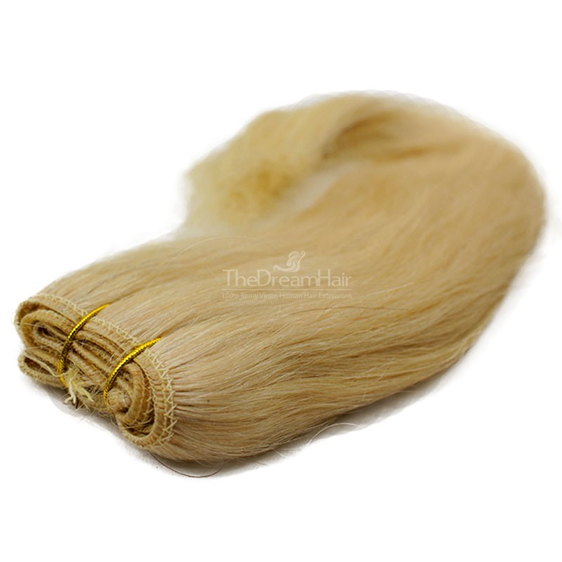 Weave, Straight, Color #24 (Golden Blonde), Made With Remy Indian Human Hair