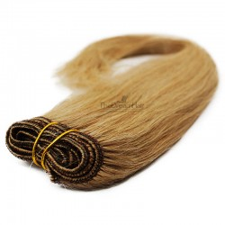 Weave, Straight, Color #27 (Honey Blonde), Made With Remy Indian Human Hair