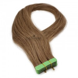 Tape-in Hair Extensions, Color #6 (Medium Brown), Made With Remy Indian Human Hair