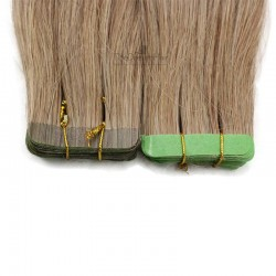 Tape-in Hair Extensions, Color #10 (Golden Brown), Made With Remy Indian Human Hair