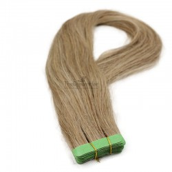 Tape-in Hair Extensions, Color #8 (Chestnut Brown), Made With Remy Indian Human Hair