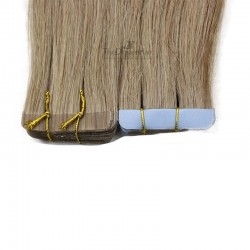Tape-in Hair Extensions, Color #18 (Light Ash Blonde), Made With Remy Indian Human Hair