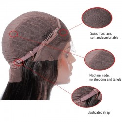 Lace Front Wig, Long Length, Color #2 (Darkest Brown), made With Remy Virgin Indian Human Hair
