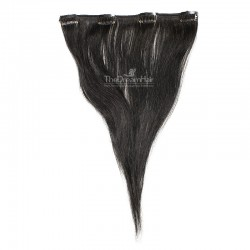 One Piece of Weft, Clip in Hair Extensions, Color #1 (Jet Black), Made With Remy Indian Human Hair