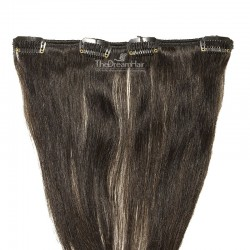 One Piece of Weft, Clip in Hair Extensions, Color #1B (Off Black), Made With Remy Indian Human Hair