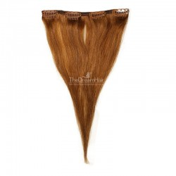 One Piece of Weft, Clip in Hair Extensions, Color #6 (Medium Brown), Made With Remy Indian Human Hair