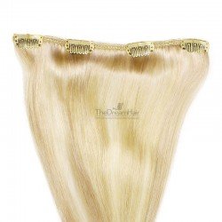 One Piece of Weft, Clip in Hair Extensions, Color #613 (Platinum Blonde), Made With Remy Indian Human Hair