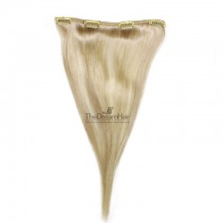 One Piece of Weft, Clip in Hair Extensions, Color #22 (Light Pale Blonde), Made With Remy Indian Human Hair