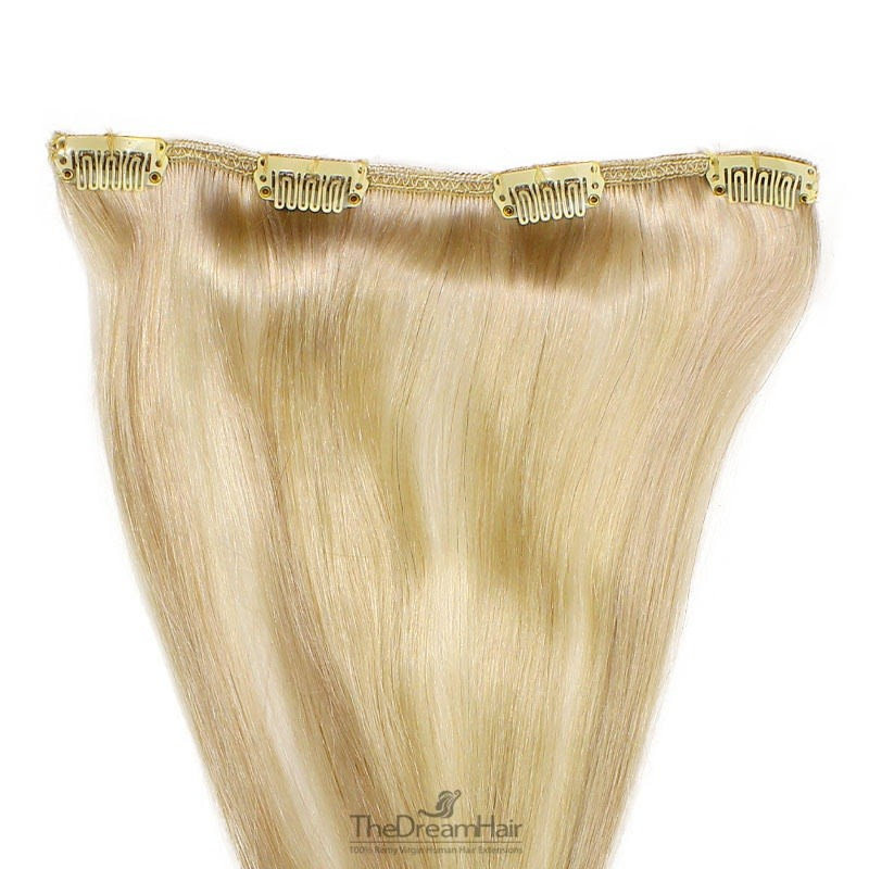 One Piece of Weft, Clip in Hair Extensions, Color #24 (Golden Blonde), Made With Remy Indian Human Hair