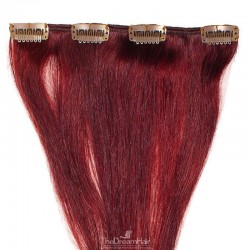 One Piece of Weft, Clip in Hair Extensions, Color #99j (Burgundy), Made With Remy Indian Human Hair