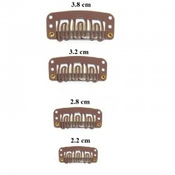 U-Shape Snap Clips With Silicone For Hair Extensions
