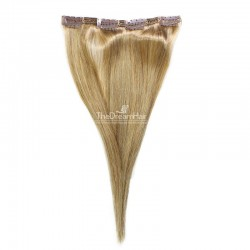 One Piece of Double Weft, Clip in Hair Extensions, Color #16 (Medium Ash Blonde), Made With Remy Indian Human Hair