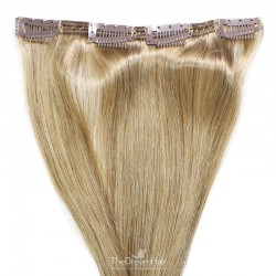 One Piece of Double Weft, Clip in Hair Extensions, Color #18 (Light Ash Blonde), Made With Remy Indian Human Hair