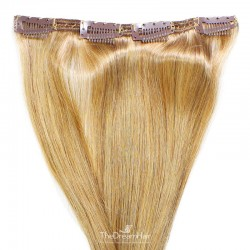 One Piece of Double Weft, Clip in Hair Extensions, Color #27 (Honey Blonde), Made With Remy Indian Human Hair