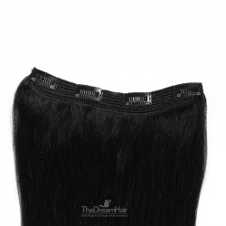 One Piece Of Quadruple Weft, Extra Thick, Clip in Hair Extensions, Color #1 (Jet Black), Made With Remy Indian Human Hair