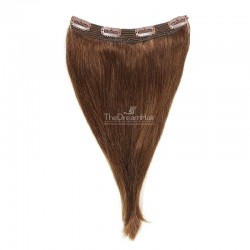 One Piece Of Quadruple Weft, Extra Thick, Clip in Hair Extensions, Color #4 (Dark Brown), Made With Remy Indian Human Hair