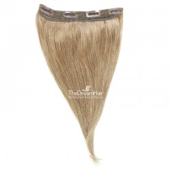 One Piece Of Quadruple Weft, Extra Thick, Clip in Hair Extensions, Color 18 (Light Ash Blonde), Made With Remy Indian Human Hair