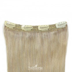 One Piece Of Quadruple Weft, Extra Thick, Clip in Hair Extensions, Color #60 (Lightest Blonde), Made With Remy Indian Human Hair