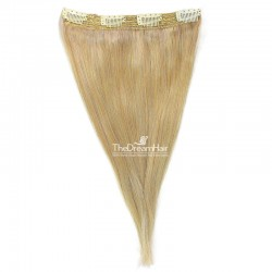 One Piece Of Quadruple Weft, Extra Thick, Clip in Hair Extensions, Color #613 (Platinum), Made With Remy Indian Human Hair