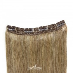 One Piece Of Quadruple Weft, Extra Thick, Clip in Hair Extensions, Color #14 (Dark Ash Blonde), Made With Remy Indian Human Hair