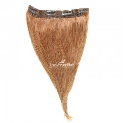 One Piece Of Quadruple Weft, Extra Thick, Clip in Hair Extensions, Color #27 (Honey Blonde), Made With Remy Indian Human Hair