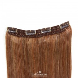 One Piece Of Quadruple Weft, Extra Thick, Clip in Hair Extensions, Color #30 (Dark Auburn), Made With Remy Indian Human Hair