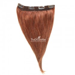 One Piece Of Quadruple Weft, Extra Thick, Clip in Hair Extensions, Color #33 (Auburn), Made With Remy Indian Human Hair
