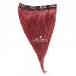 One Piece Of Quadruple Weft, Extra Thick, Clip in Hair Extensions, Color #530 (Red Wine), Made With Remy Indian Human Hair