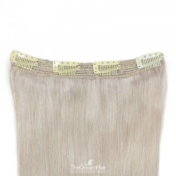 One Piece Of Quadruple Weft, Extra Thick, Clip in Hair Extensions, Color #Grey, Made With Remy Indian Human Hair