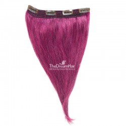 One Piece Of Quadruple Weft, Extra Thick, Clip in Hair Extensions, Color #Pink, Made With Remy Indian Human Hair
