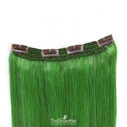 One Piece Of Quadruple Weft, Extra Thick, Clip in Hair Extensions, Color #Green, Made With Remy Indian Human Hair
