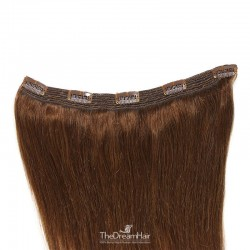 One Piece of Quadruple Weft, Extra Large And Extra Thick, Clip in Hair Extensions, Color #4 (Dark Brown)